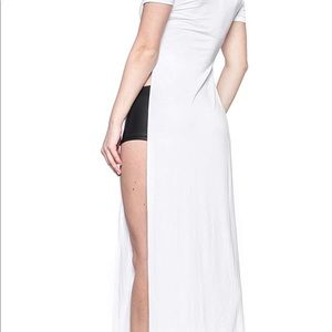 Dresses & Skirts - High split maxi t-shirt dress in white